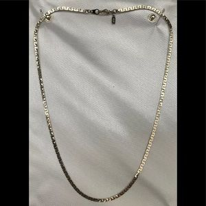 """14K White Gold Plated 18"""" 3mm. 7g. Chain Necklace."""